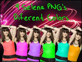 Selena PNG's Diferent Colors by BellaThorneAlways