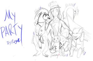 Pokemon FR-My Party as of June by Roya111