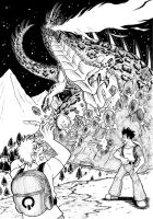 Giant monsters in black n white 3/3 by ChaosGhidorah