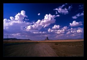 On the road to the Monument Valley by Emilio-Casini