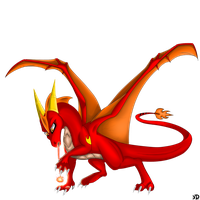 :Collab: Red-Dragon-Blaze by Deathtail-The-DraCon