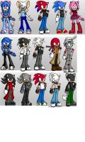 Sonic People and OCs by KHBoy