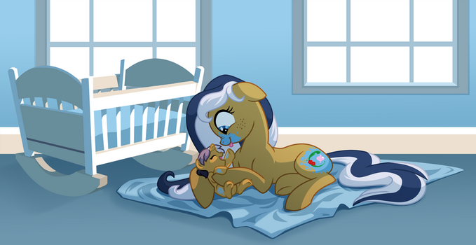 Hazel playing with her Mommy by IttybittyLexy