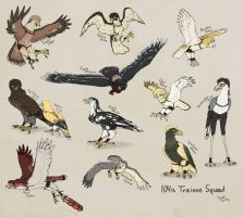 SnK birds of prey: 104th Trainee Squad by PurplePandog