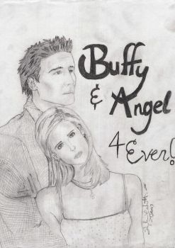Buffy and Angel by WinstonTA