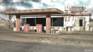 Old fuel station by RatchetHD