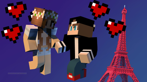 my bf and me in minecraft X3 by realkawaiisky