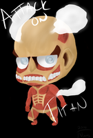Chibi Colossal Titan by msVuonis