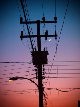 ElectricPostInWinterColours by mamc2501