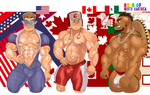 Muscle Countries - North American Muscles by musclust