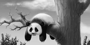 Commission: Hang In There, Panda! by zeus-arts