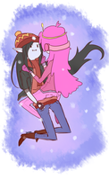 Marceline and Peebles by jaja-sick-bear