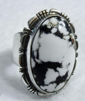 White buffalo ring by FlagstaffTraders