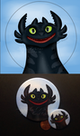 Smiling Toothless-pin back button by CrystalCircle