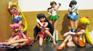 the sailor scouts figurines by AnaInTheStars