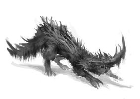 creatureconcept - logmonster2 by DefiledVisions