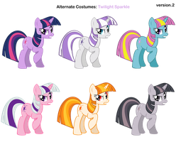FiM skins: Twilight Sparkle v2 by Pika-Robo