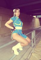 Chun-Li outdoor shoot 1 by TheFineTrouble