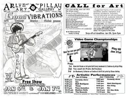 Good Vibrations Art and Music Show Flyer by ArlynPillay