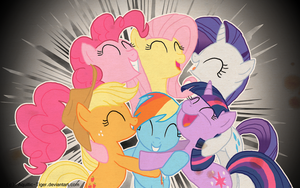 Mane Six .wallpaper. by Aquillic-Tiger