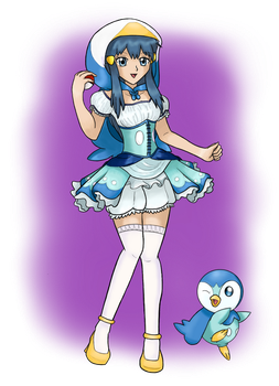 POKEGIRLS COSPLAY - 'Penguin' Dawn by Call-Of-The-Indie