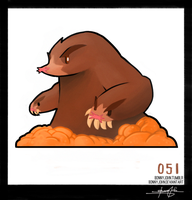 Dugtrio!  Pokemon One a Day! by BonnyJohn