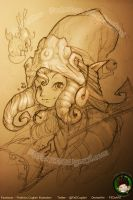 Sketching Dragon trainer Lulu by FEDsART
