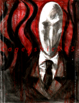 Slender Man [Water Colour] by Cageyshick05