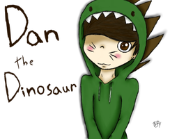 Dan the Dinosaur! (Danisnotonfire Fan Art) by tiffytekkno