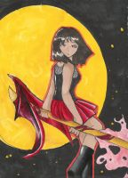 Girl flying 2 the moon by divi