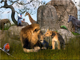 Mufasa and Simba ~ A Celebration by WDWParksGal