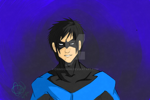 Dick Grayson Nightwing by crimsononi