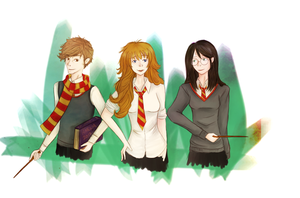 Harry Potter: Genderbend by TeaAndScone