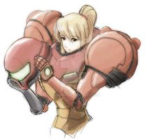 Samus taking it off by nejinoki