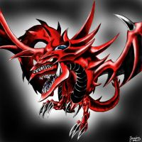 Slifer the Sky Dragon Airbrush by NothingIs-True