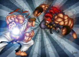 Ryu Vs Akuma by liquid-venom
