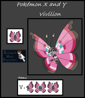 Pokemon X and Y - Vivilion Sprite by SpriteGirl