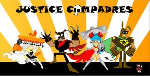 GROWN UP, JUSTICE COMPADRES by CrimsonFace