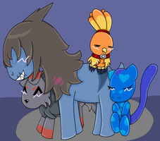 Beo and his Chicks by Apricotthevixen