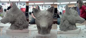Wolf Sculpture WIP 5 by obsidianEMOtion