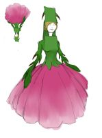 Rose Dress Concept (2 minute doodle!) by TheLearningArtist