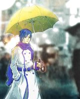Kaito under the Rain by ProSoul