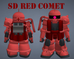 SD Red Comet by lordvipes