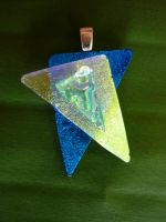 Fun 3D Fused Glass Pendant by FusedElegance