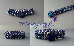 Purple Velvet Bracelet Collage by beadg1rl