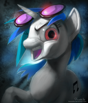 MLP FIM: DJ Pon-3 Portrait by hinoraito