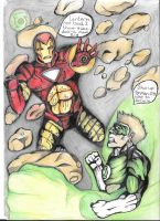 Ironman vs Green lantern by MrBamboozle
