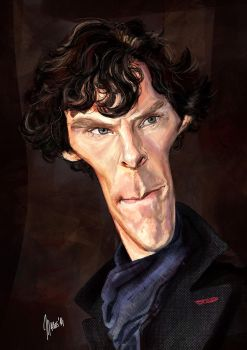 benedict cumberbatch caricature by jupa1128