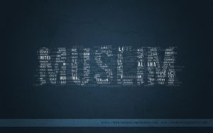 Muslim Typographic Wallpaper by dronzer92