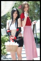 Aerith and Tifa by Beibei-J